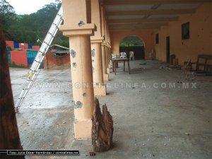 El palacio del Municipio Autónomo de San Juan Copala Oaxaca, así Luce por paramilitares del MULT  adherente de EZLN  Y UBISORT